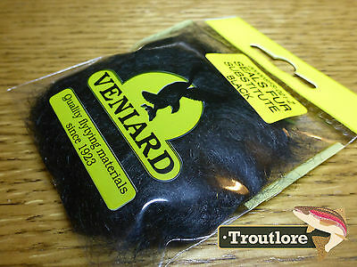 Black Veniard Seals Fur Substitute Dubbing - New Fly Tying Dub Material