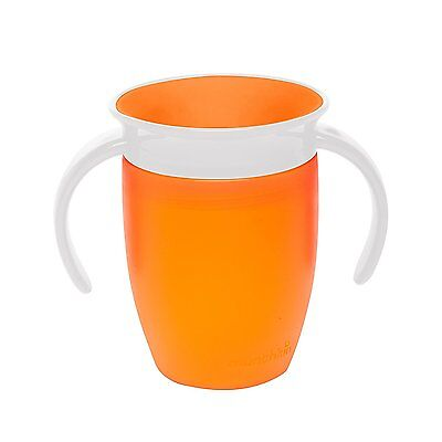 Munchkin Miracle 360 Degree Toddler Baby Trainer Cup 207 ml, Orange Spill Proof