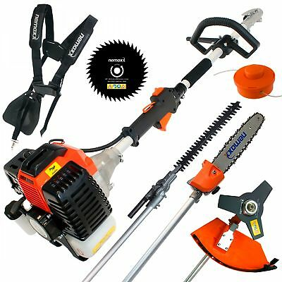 52cc petrol brushcutter 5in1 gardening multi tool set brush cutter hedge trimmer