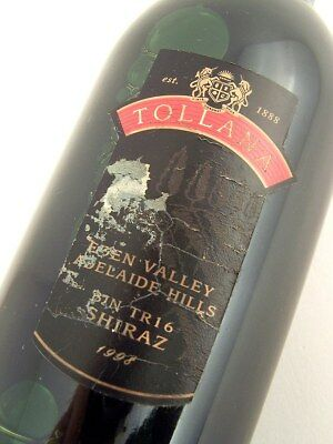 1998 TOLLANA Bin TR16 Shiraz B Isle of Wine