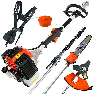 52cc petrol brushcutter 4in1 gardening multi tool set brush cutter hedge trimmer