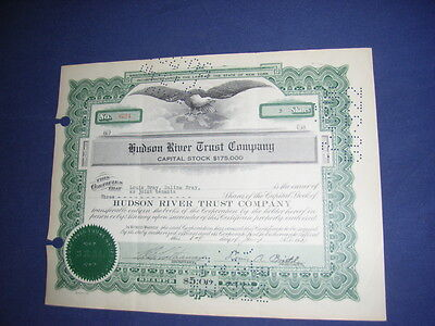 USA: Hudson River Trust Company, State of New York, shares, 1930ies