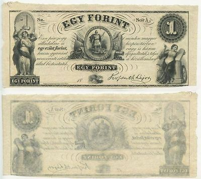 "GB328 - Banknote Ungarn 1 Forint 1852 UNC Erhaltung Serie ""A"" Hongrie Hungary"