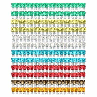 120X 7 Size Assorted Mixed Car Standard Blade Fuse【5,7.5,10,15,20,25,30】AMP Kit