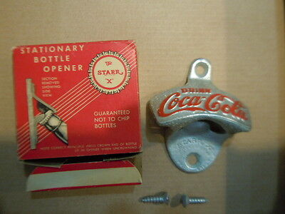 Coca-Cola Vintage Star-X Brand Bottle Opener MINT IN BOX Perfect