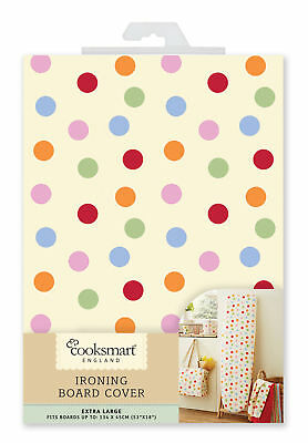 Cooksmart Spot Ironing Board Cover 134x45cm X Large 53x18 Inch Foam Easy Fit New