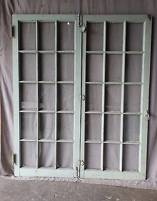 Antique French Door Window Cabinet Cupboard Casement Vintage Shabby 23x56 88-17P