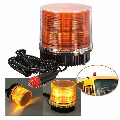 12V Magnetic LED Emergency Strobe Flashing Lamp Beacon Orange/Amber Car Truck