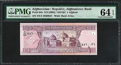 (2002) ND Afghanistan 1 Afghanis PMG Choice UNC 64 EPQ (P64a)