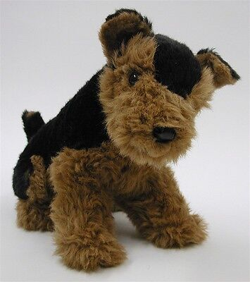 Vintage Avanti Plush Dog Sitting Airedale Pup Terrier Italy Applause