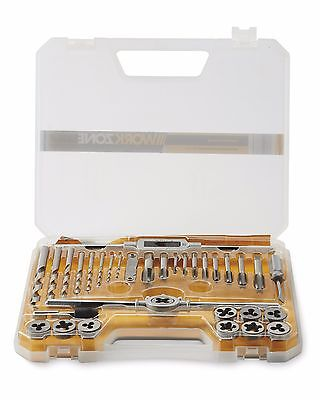 Workzone 34 Piece Tap & Die Set Screw Thread Repair Carry Case 93869
