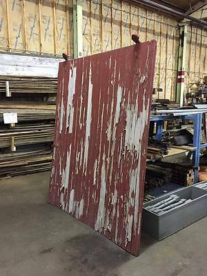 Big Red Barn Door with Wheels and Track