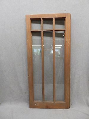Old Antique 6 Lite Casement House Window Sash Cabinet Door Vtg Chic 16x35 93-17P