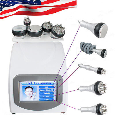 5 IN 1 Vacuum Ultrasonic Cavitation Radio Frequency RF Body Slim Spa Machine  US