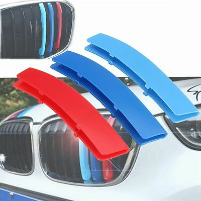 3 Tricolor Sport Grill Grille Strip Cover Trim For Bmw M 1