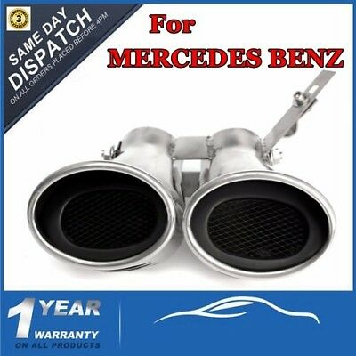 Exhaust Muffler Tail Pipe Tips For MERCEDES-BENZ AMG C Class W203 C240 C320 Dual