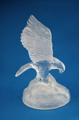 Cristal D' Arques Crystal Clear Eagle Figurine W/ Frosted Base Paperweight