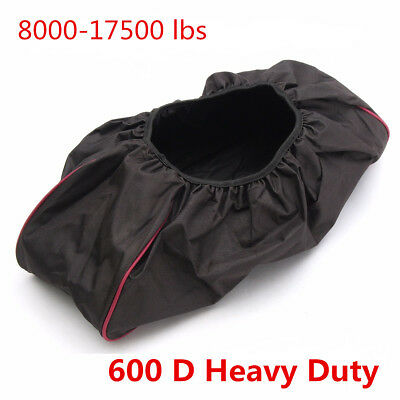 Waterproof Soft Winch Dust Cover 8,000-17,500 lbs Trailer ATV SUV 600D Black