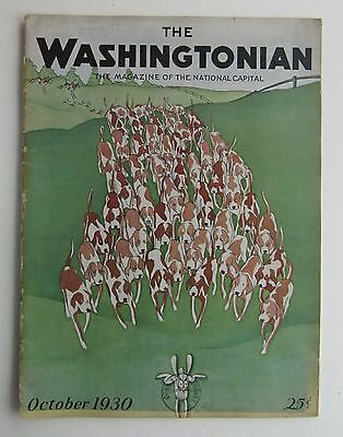 Rare The Washingtonian Magazine Art Deco Cover by Schus October 1930