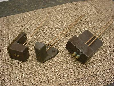 Vintage Lot 3 Mantle Clock  Gong  Replacement Brass 2-Gong Rods and Bases E895