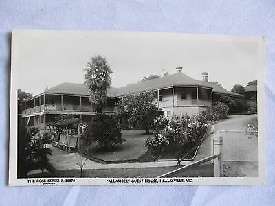 Rose Series Real Photo Postcard Allambee Guest House Healesville Vic