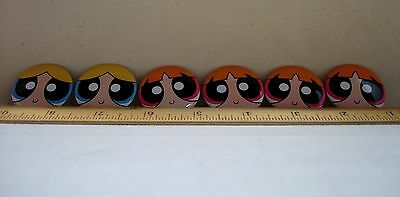 "Powerpuff Girls Blossom Bubbles SDCC Promo 2016 1.5"" Pin Pinback Button Set of 6"