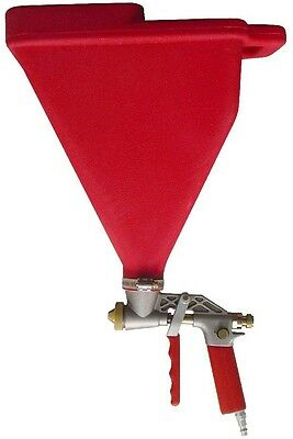 Hopper Gun 3 Sprayer Tips Spreader Air Pressure Control Trigger Texture Tool Red