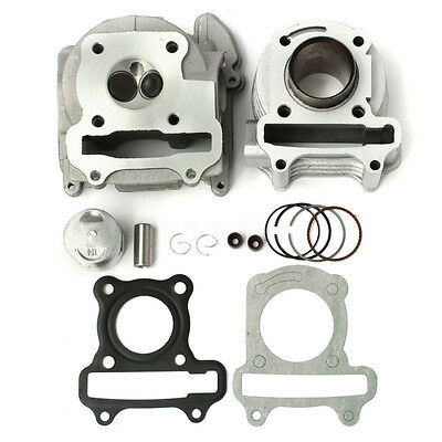 47.7mm Cylinder Head Piston Ring Assembly For 50cc 60cc 80cc GY6 QMB139  Scooter