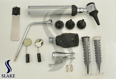 *NEW* ENT (Ear,Nose &Throat) Diagnostic,Otoscope,Ophthalmoscope set W/Hard Case
