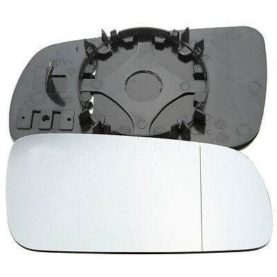 Right Driver Side RHD Wing Door Mirror Glass for VW Golf MK4 1996-2004 Clip On