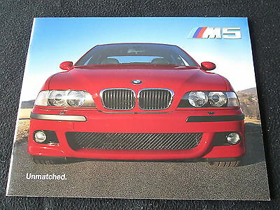 2000 BMW M5 E39 US Brochure E 39 M 5 Prestige 1st Year Sales Catalog thick pages