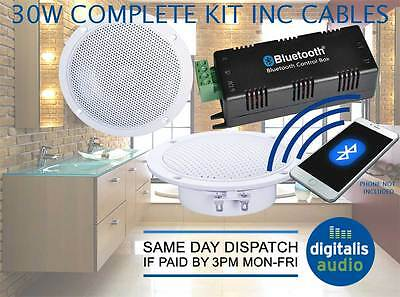 Bathroom Bluetooth Ceiling Speaker System Amplifier 2 X 4 Inch Ceiling Speakers