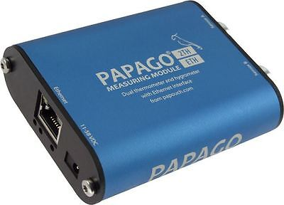 Papago 2TH PoE 2-Channel environmental monitoring ETHERNET humidity temperature