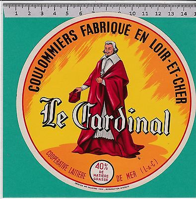 I1213 Fromage Coulommiers Le Cardinal  Mer Loir Etcher