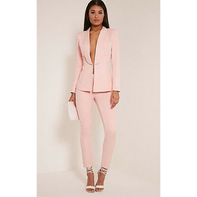 66f7ab4b3bd2 Pink Pants Suits For Women Business Suit Female Trouser Suits Ladies Work  Blazer
