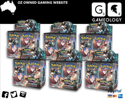 POKÉMON TCG Sun & Moon Burning Shadows Booster Box x6 comes in a carton