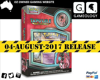 PREORDER POKÉMON TCG Tapu Lele Pin Collection includes 3 booster pack