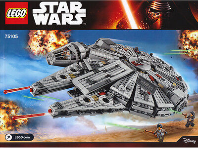 New Instructions Only Lego Millennium Falcon 75105 Star Wars Book