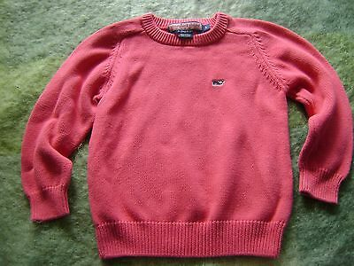 Vineyard Vines Child's 5 Hot Pink All Cotton Whale Crewneck Sweater; Exc!