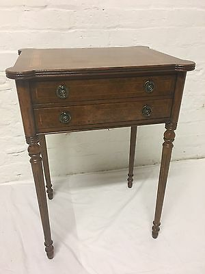 Finest Quality Burr Walnut Regency  Side * Hall * Bedside Table With Drawer