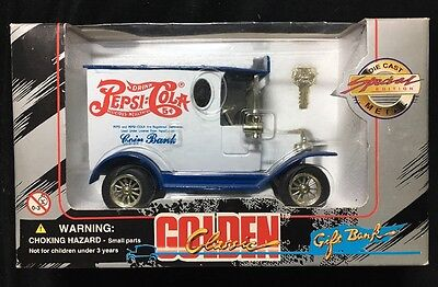 Collectible Pepsi-Cola Golden Classic Die Cast Metal Gift Bank Special Edition