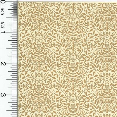 Dollhouse Wallpaper William Morris Brown on Cream Acorns