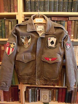 WWII USAF 509th Tactical Fighter Squadron Bomber Jacket Cosplay Reenactment
