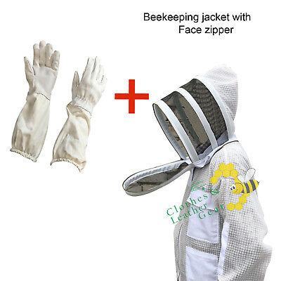 BEEKEEPING JACKET with FANCY/HOOD VENTILATED THREE LAYERS MESH ULTRA COOL BREEZE