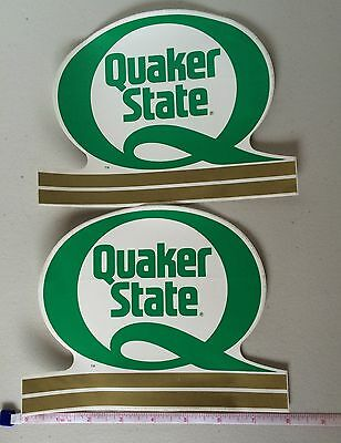 QUAKER STATE Motor Oil Sticker Lot of 2 Original Vintage Racing Decal NOS New
