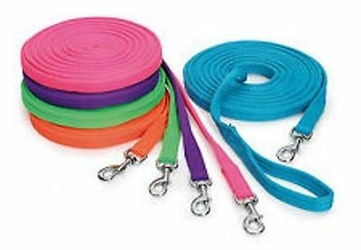 Shires Wessex Padded Lunge Line Rein - Soft Feel 8m Long - Choose Colour!