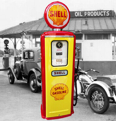 Shell Oil Co Model 39 Tokheim Full Size Gas Pump-Vintage Petroliana Style