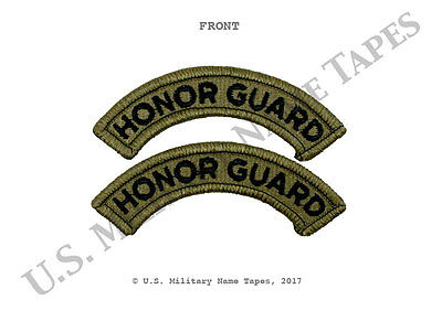 U.S. Army ACU Scorpion OCP Honor Guard Shoulder Tab Set w/Hook Fastener