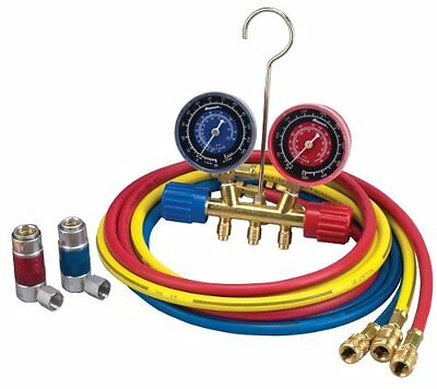 """Robinair 45111 A/c R-134a Manifold Gauge Set With 72"""" Hose And Couplers"""