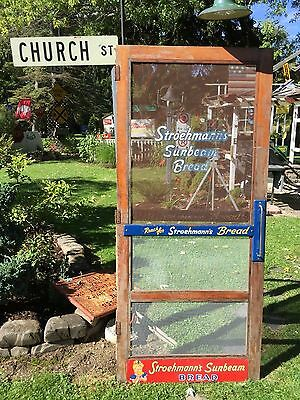 Rare 1956 Old Country Store Screen Door Stroehmann's Sunbeam Bread RARE FIND